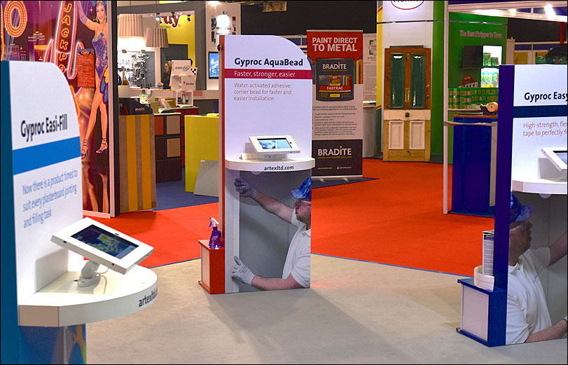 Artex Exhibition Stand, Closeup