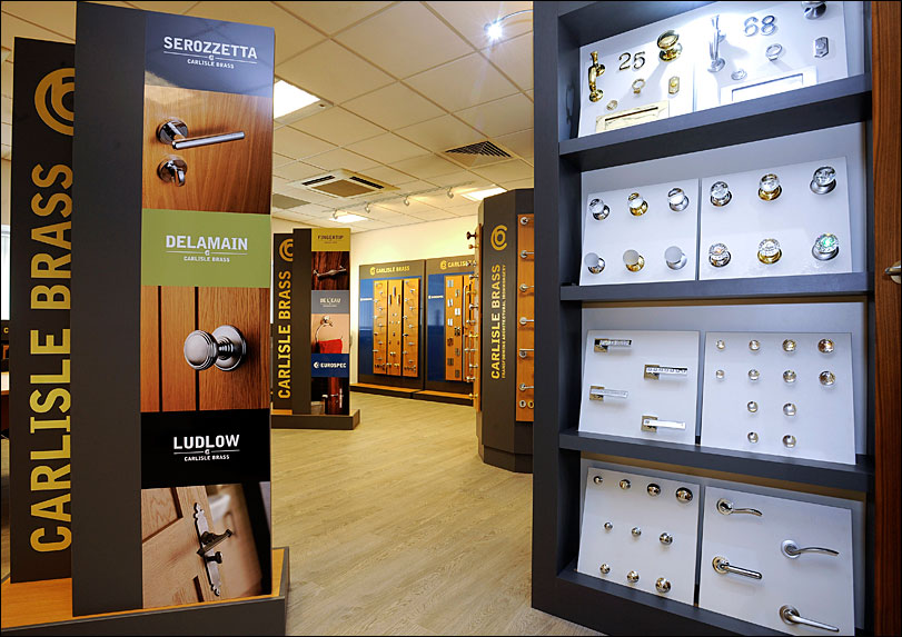 Carlisle Brass Showroom Display by Merit Display