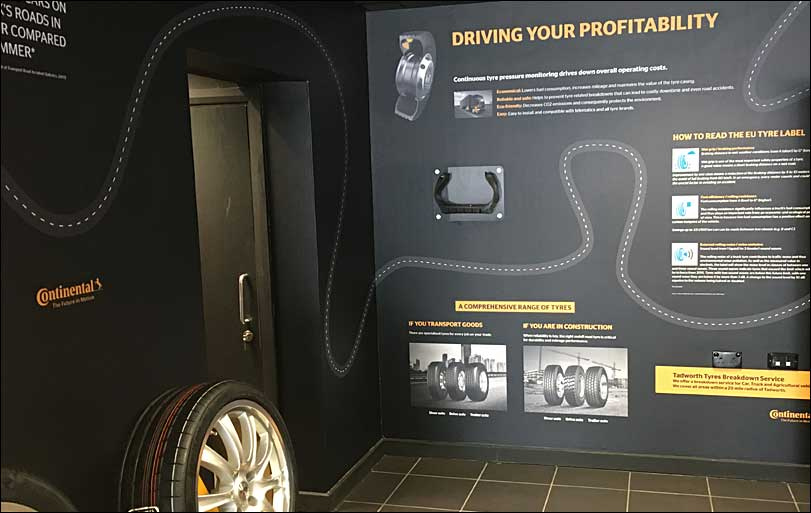 Continental Tyres, driving your profitability, retail display