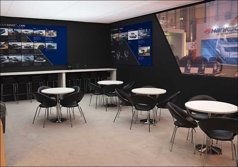 Peugeot Exhibition Stand, Seating