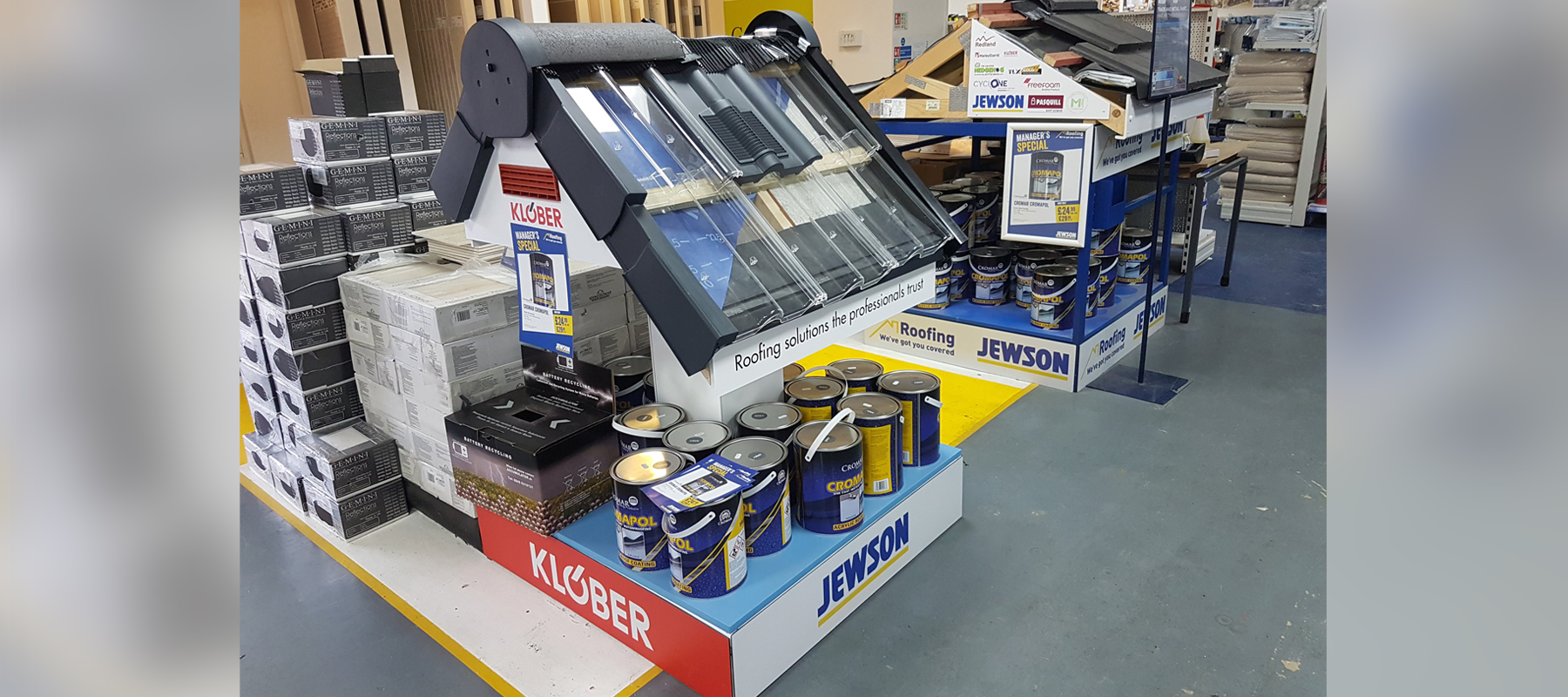Klober and Jewson Display