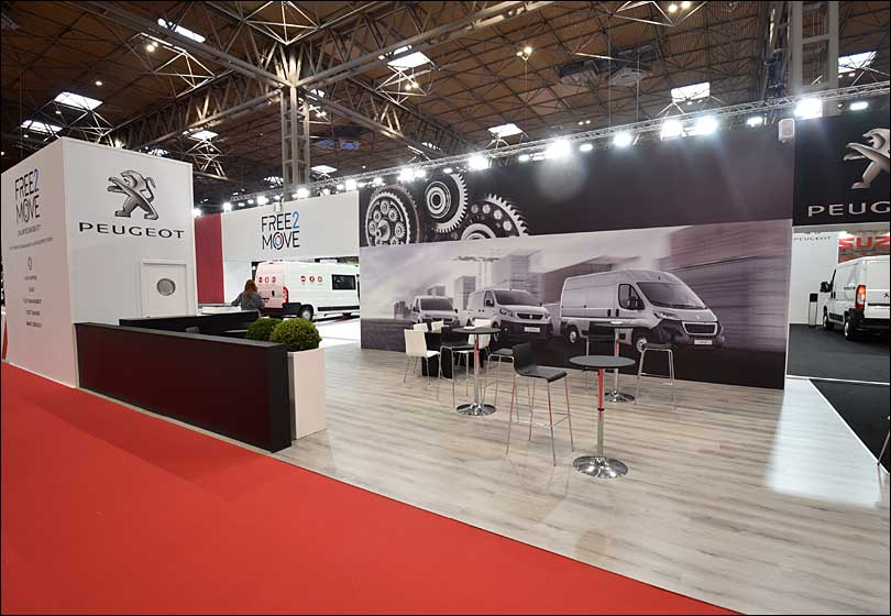 Peugeot and Citroen Exhibition Stand