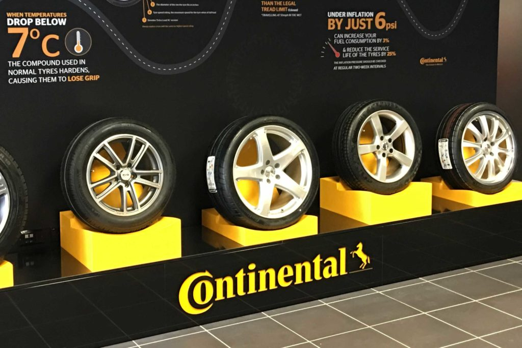 Continental Tyres Retail Display by Merit Display