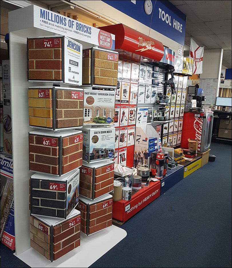Jewson Bricks Retail Display