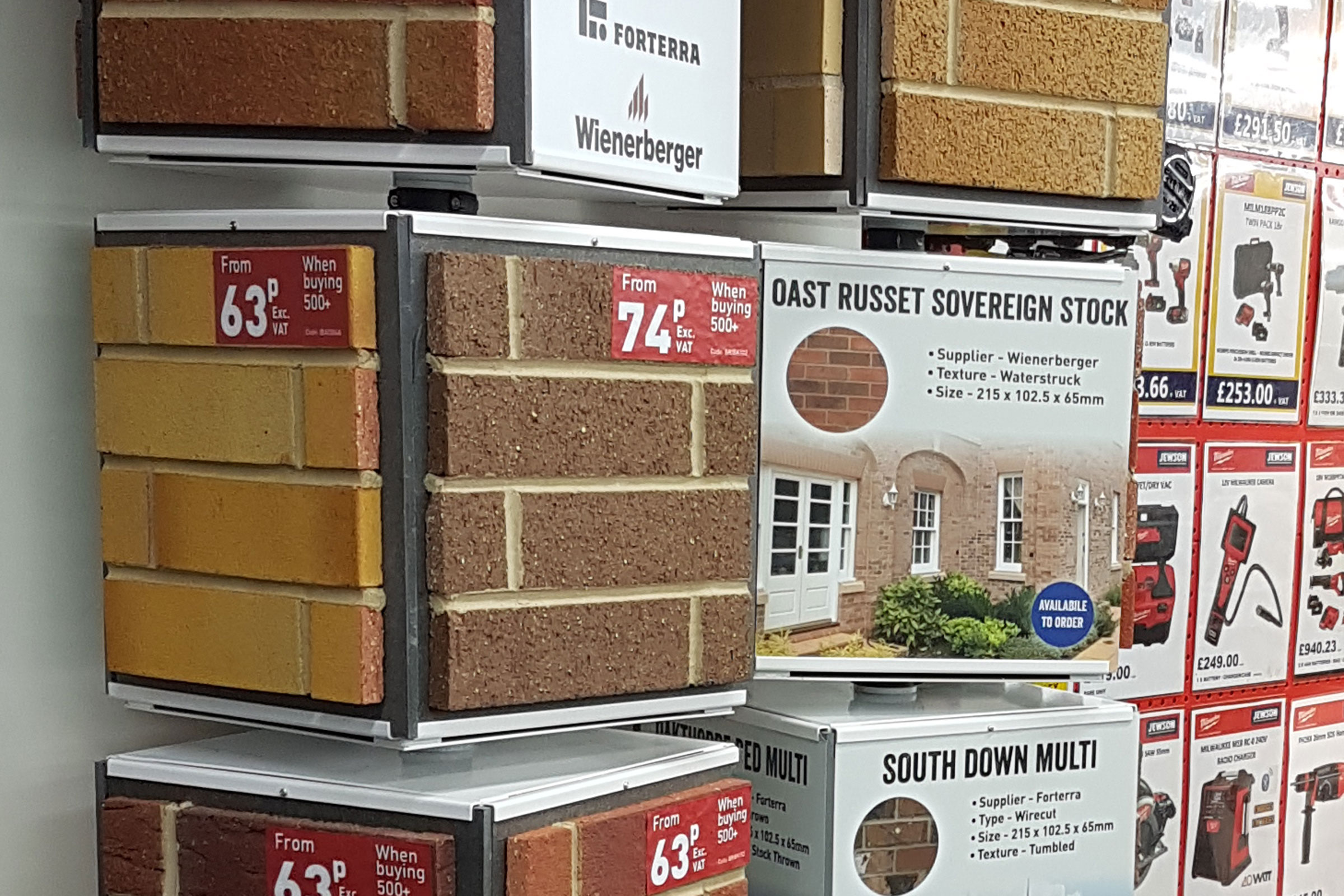 Jewson Bricks Retail Display