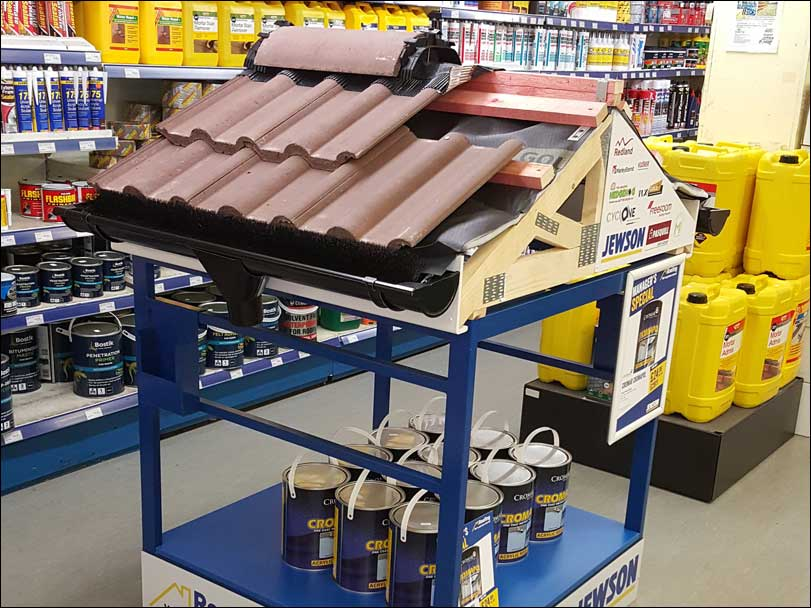 Jewson Roof Retail Display by Merit Display