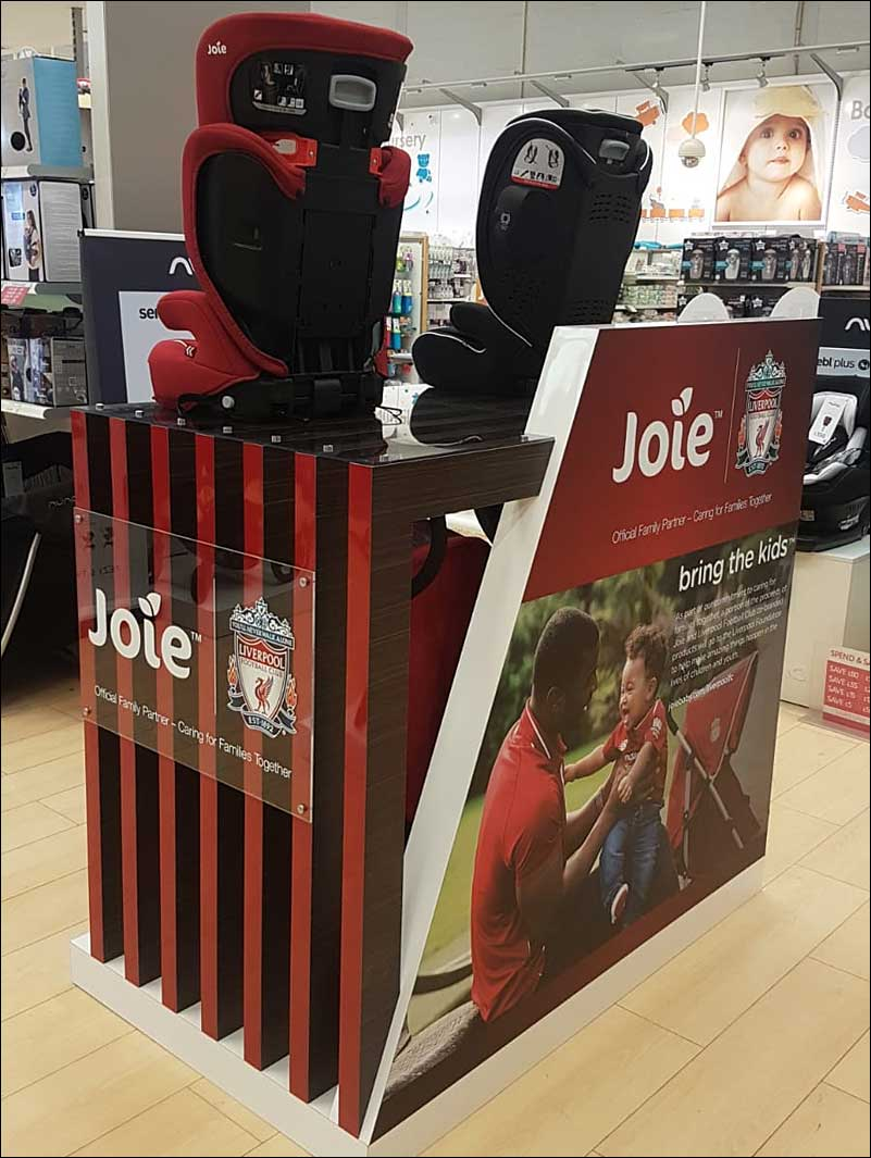 Joie Retail Display Stand, Liverpool FC