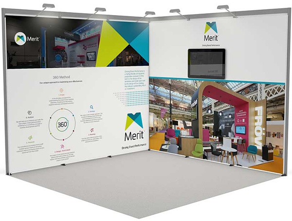 Modular Exhibition Stand for hire - Merit Display