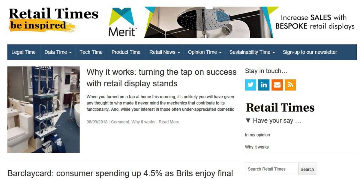 Retail Times Webpage