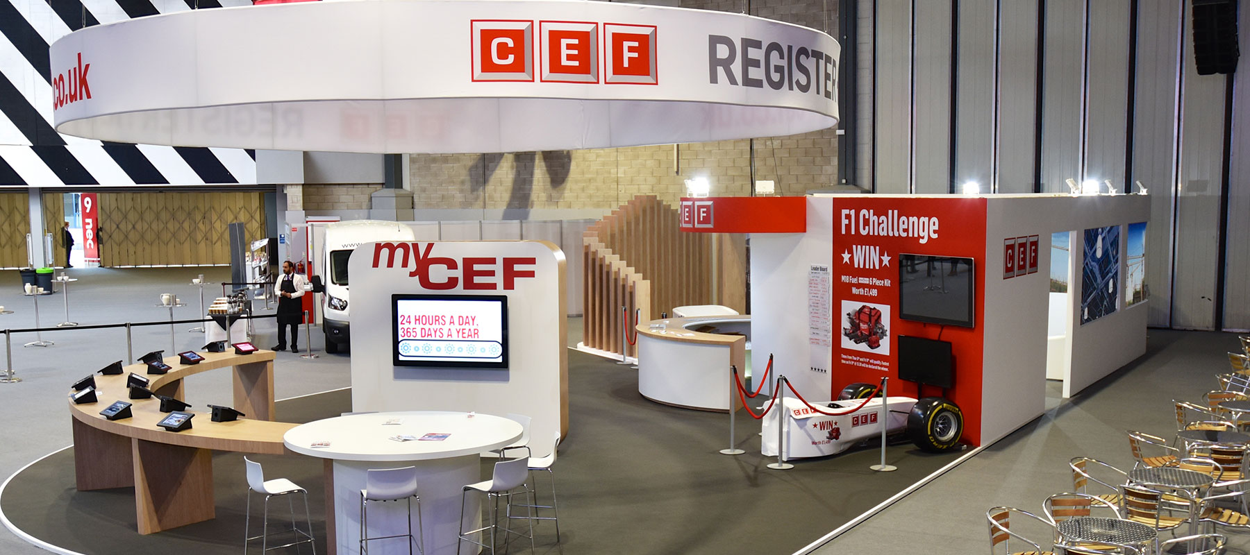 CEF Exhibition Stand by Merit Display